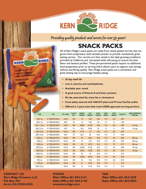 Kern Ridge Flyer - Snack Pack 1